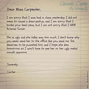Carter letter