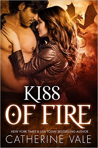 Kiss Of Fire (BBW Dragon Shifter Paranormal Romance) by Catherine Vale - Release Date: August 9th, 2015