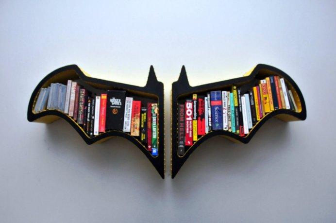 Creative-Bookshelves-and-Bookcases-Decorations-Ideas-BATMAN
