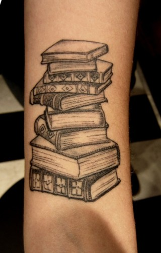 Science-source-book-tattoo-on-arm-573x900