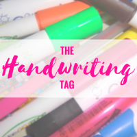 The Handwriting Tag!