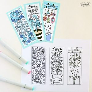 Winter-Bookmarks-Coloring-Page-4